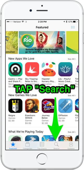 Tap search