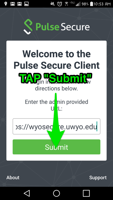 Tap submit