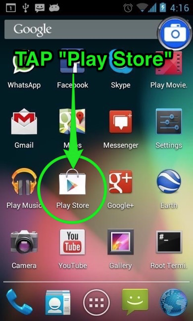 Tap Play Store icon