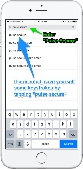 Type pulse secure