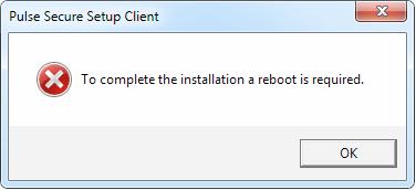 Please reboot