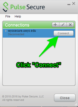 Click connect